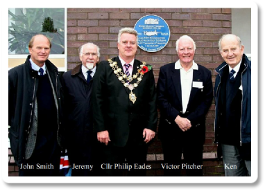 31st October 2013 - 'BOAC Marine Terminal Salterns 1943-48' Blue Plaque
