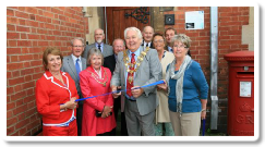 The Mayor of Poole, Cllr Graham Wilson, officially opens the new PFBC offices in Parkstone Library building